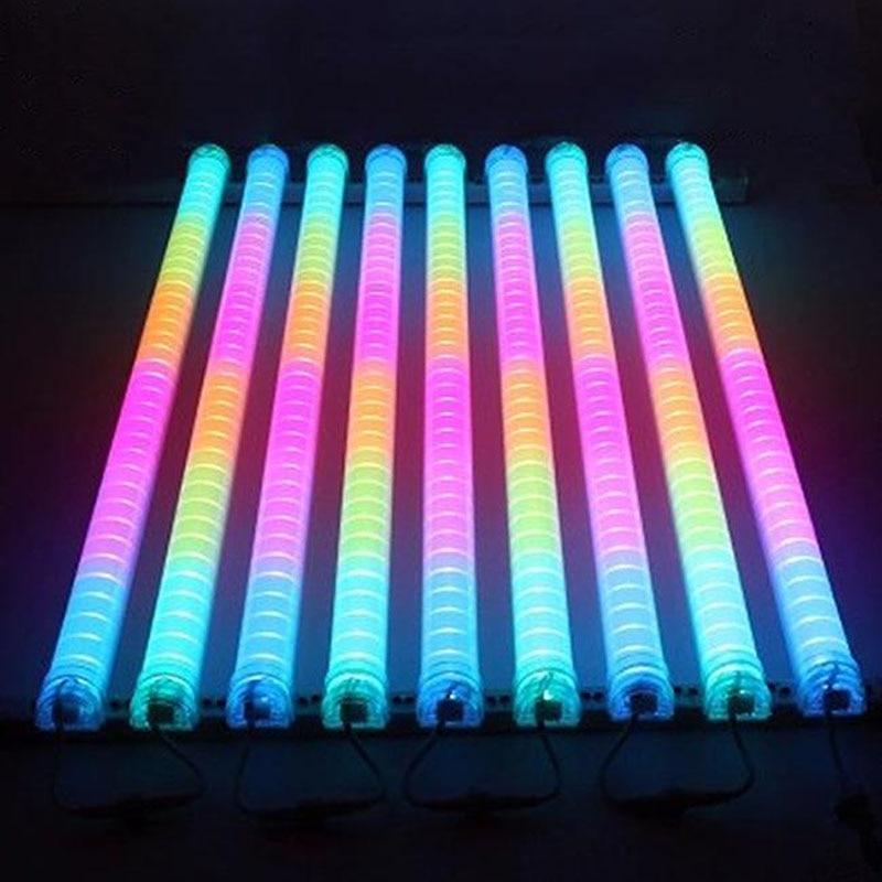 (20pcs/lot)LED Neon bar 1m IP 66 LED Digital Tube/LED tube color change waterproof outside colorful tubes building decoration