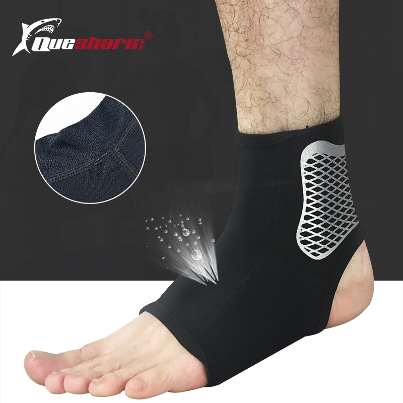 1pc Sports Ankle Support Football Basketball Badminton Sport Ankle Sprain Protection Bandage Weightlifting Elastic Ankle Brace Cool In Summer And Warm In Winter