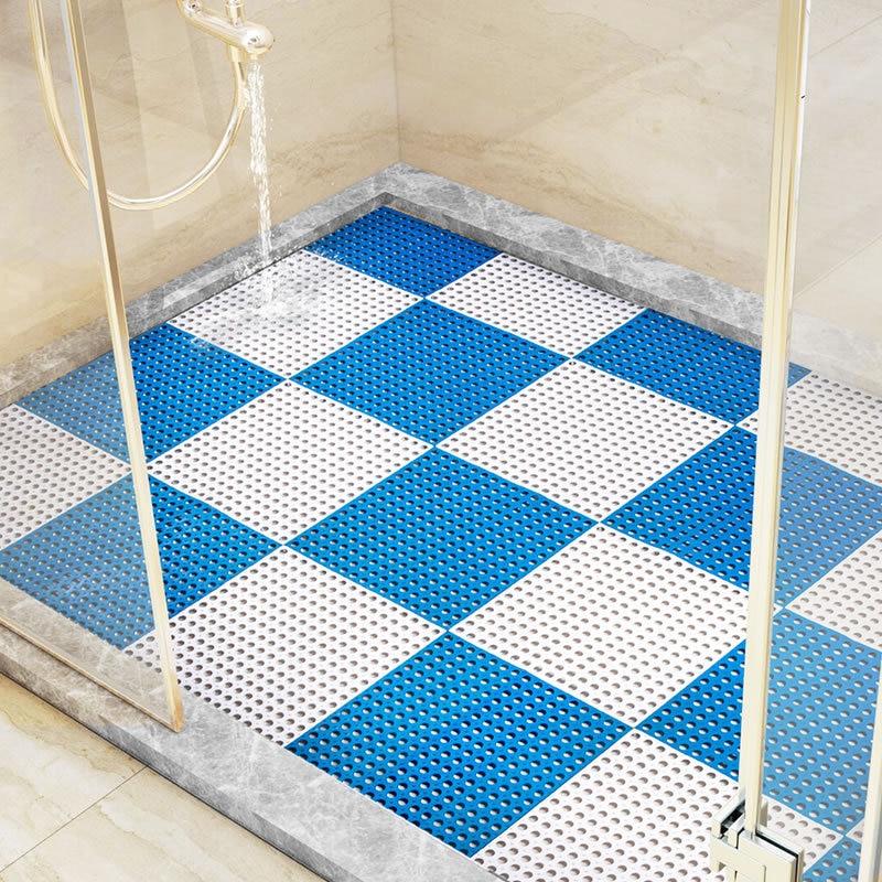 Bath Mats 1pc Bathroom Carpet Shower Mat Non-slip Bath Mats Bathroom Square Pvc Bathmats For Home Kitchen Floor Mats For Toilet Bath Rug