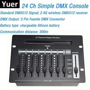 24CH Simple DMX Controller Mini 512 Stage Light Console Convenient DMX512 Console Easy To Carry For LED Par Moving Head Lights