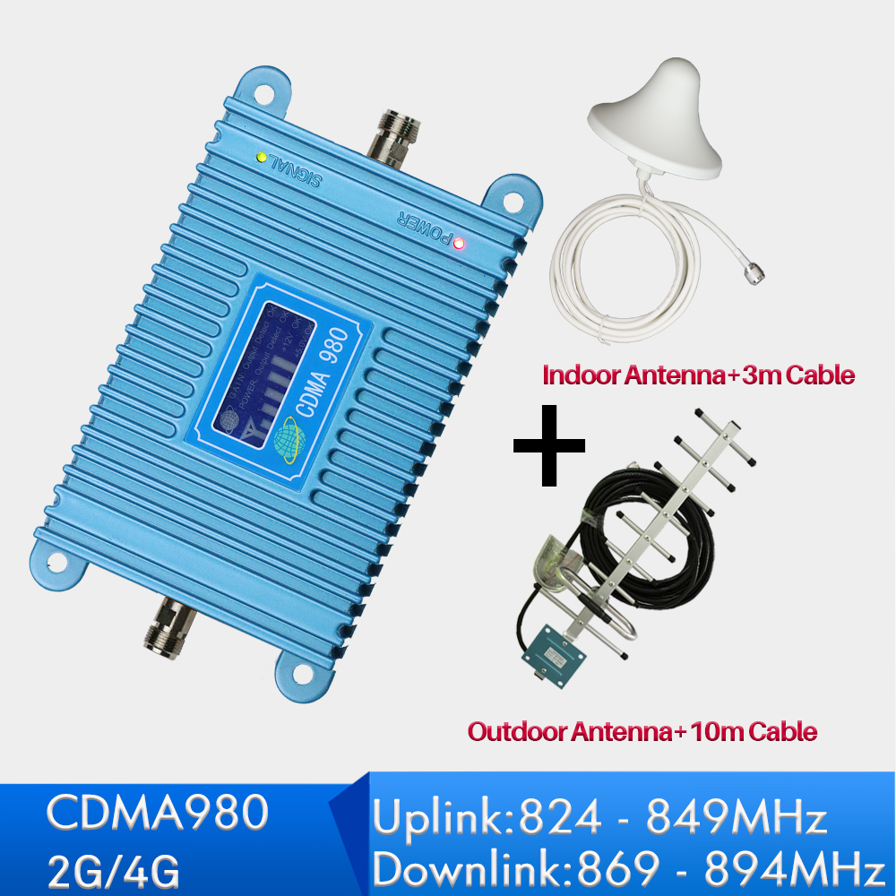 4G repeater 850 MHz Signal Booster antenna full kits 2g Mobile Signal Amplifier LCD Display Mini 70db LTE fullset for home use4G repeater 850 MHz Signal Booster antenna full kits 2g Mobile Signal Amplifier LCD Display Mini 70db LTE fullset for home use