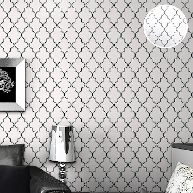 Buy diamond print moroccan lattice modern Discount designer wallpaper