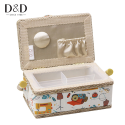 Sewing Storage Basket Cotton Fabric Crafts Storage Box DIY Household Sewing Tools Decorations for Home 19*13*10CM