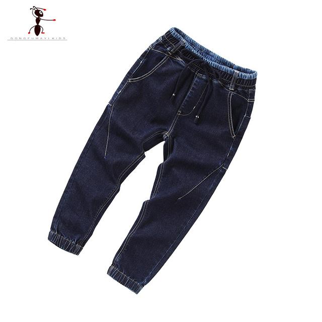 Vaqueros de invierno Niños Boy Pantalones Vaqueros de Mezclilla y Pantalones de Lana Pantalones de Los Muchachos Niño Sólido Caliente Nueva para Niños 63345