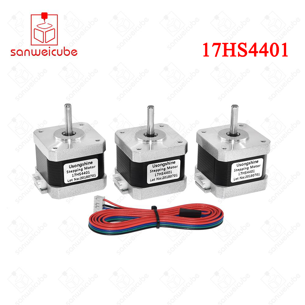 3Pcs/lot 17HS4401 4-lead Nema17 Stepper Motor 42 motor Nema 17 motor 42BYGH 1.5A motor for 3d printer and CNC XYZ machine 5pcs 4 lead nema17 stepper motor 42 motor nema 17 motor 42bygh 38mm 1 5a 17hs4401 motor for cnc xyz 3d printer motor