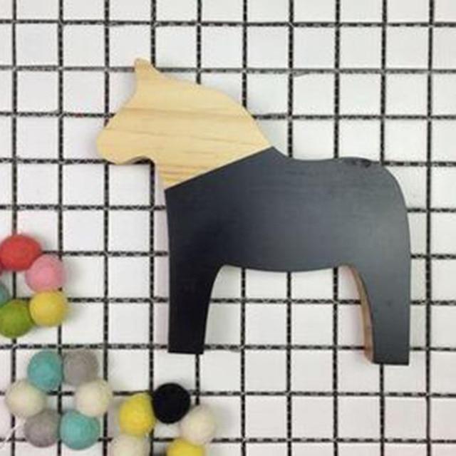 NAI YUE Dekoration Handwerk Statue Holz Trojanisches Pferd Spielzeug  Modellierung Decor Kreative Kinder Kinderzimmer Dekoration Spielzeug
