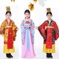 Новый детский Костюм Династии Тан Китайский Народный Танец Национальный Костюм Тан Древняя Китайская Hanfu Одежда Мальчиков/девочек Косплей