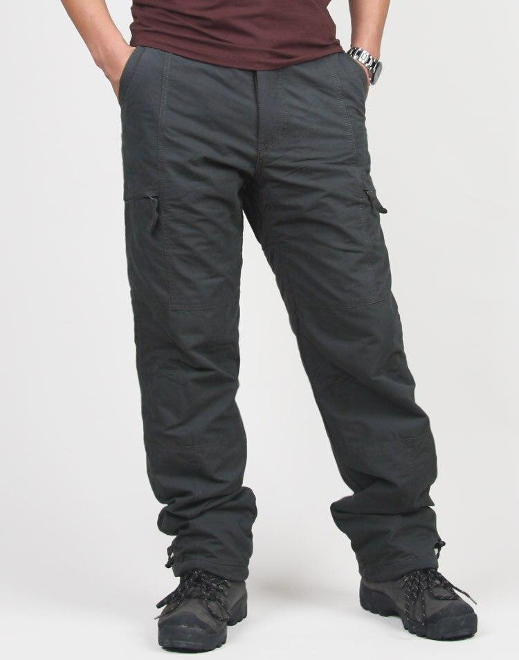 Image 3 -  グループ  上の 高品質冬暖かい男性厚いパンツ二重層軍事軍迷彩、戦術的な綿のズボンブランド服