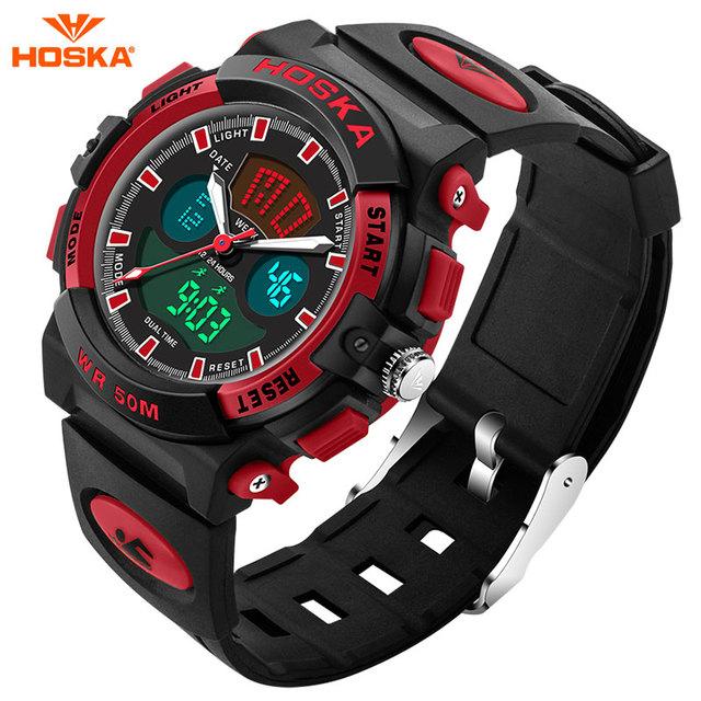 2017 nova hoska meninas relógio digital led watch silicone sports watch data multifunções crianças relógios calculadora relógio de pulso hd005