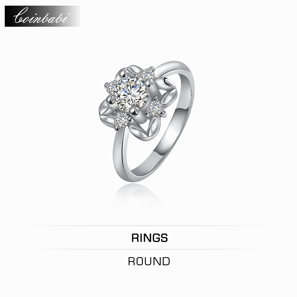 Ring Round,inalis Wedding Ring White Gold Flower Wholesale Jewelry  Wholesale Website Office 2017 New Plated Gift For Women