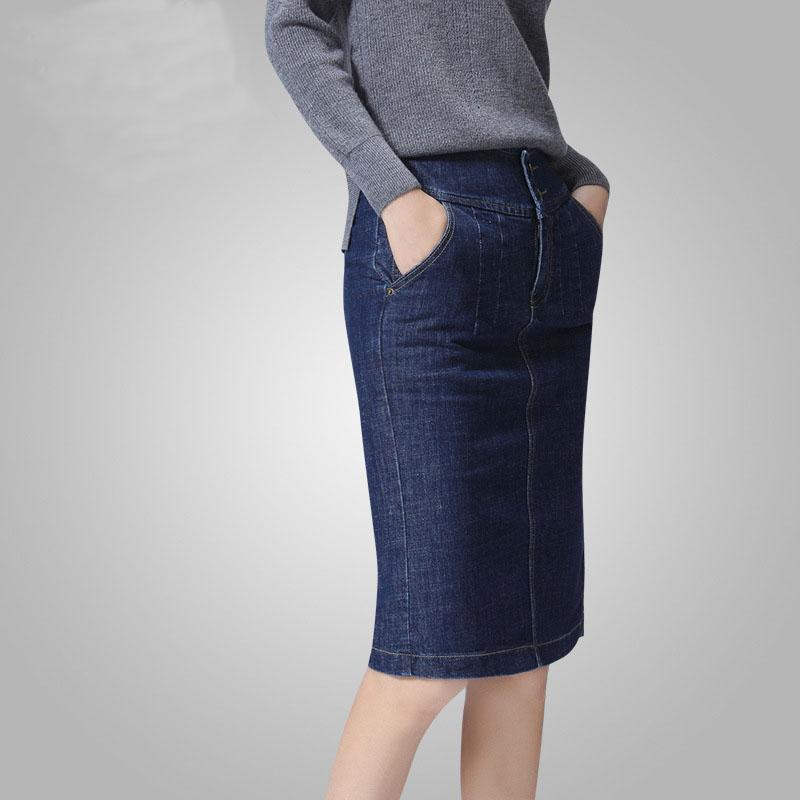 2017 Women Denim New Design Women Denim Pencil Skirt Fashion ...