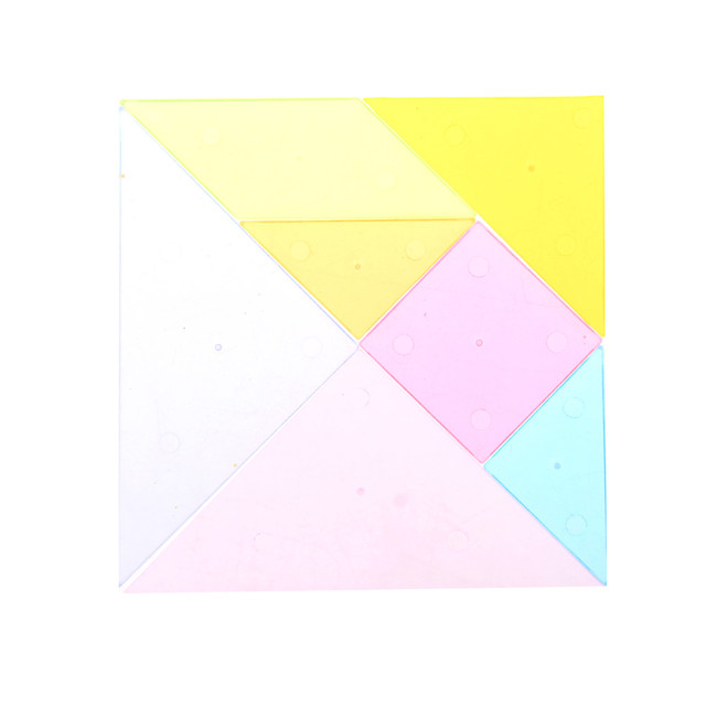 US $1 51 |Rainbow Color Plastic Tangram DIY Brain Puzzle Kids Educational  Gift Toys Children Mental Development Jigsaw Puzzle-in Puzzles from Toys &