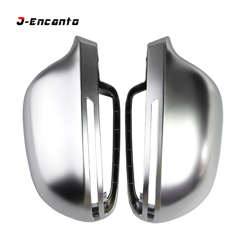 Car Mirror Cover For Audi B8 A3 A4 A5 A6 S4 RS4 S6 RS6 Matte Chrome Rearview Mirror Cover Protection Cap Car Styling