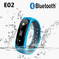 E02 Waterproof Bluetooth Smart Bracelet Anti-Lost Sports/Sleep Monitor Call/SMS Remind Smartband Watch For Android ios Phone