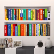 3D Modern Wall Sticker Lifelike Bookcase Office Wall Decors Living Room  Bedroom Decorations Creative Mural Art Room Decals