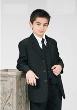 Top sell/Free shipping/Custom Made Kid tuxedo Notch Collar Children Wedding Suit Boys Attire(Jacket+Pants+Tie+Waistcoat) G943