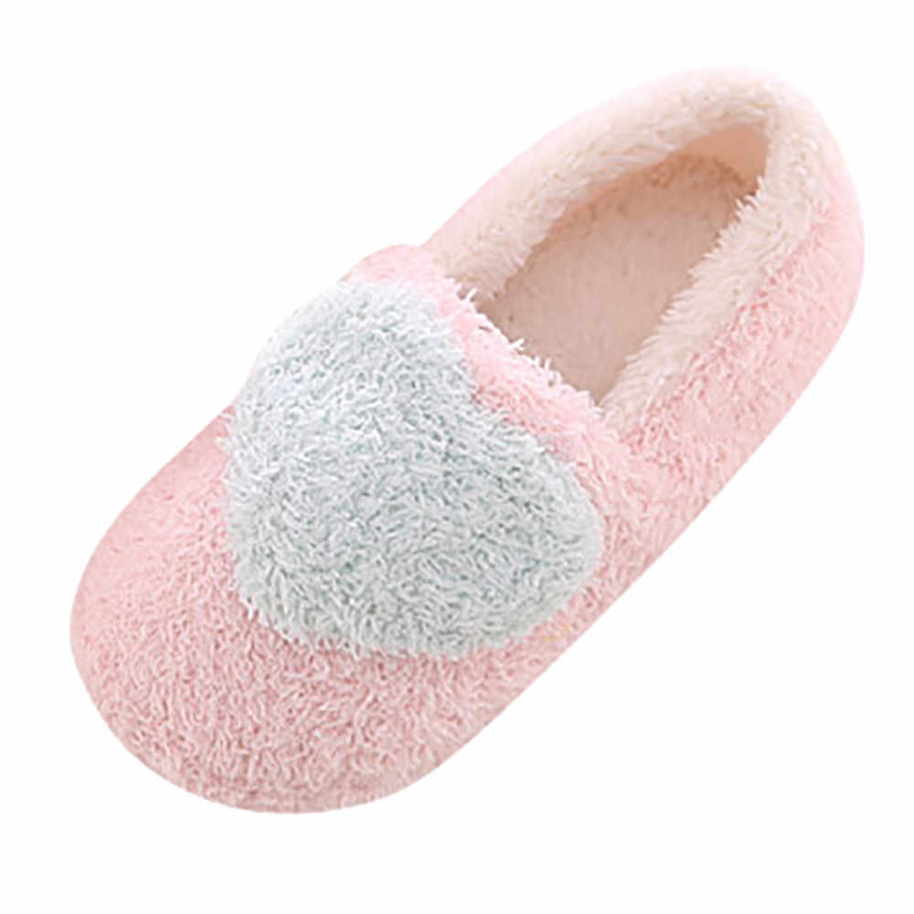 6e298b002f411 ... SAGACE Women Winter Warm Soft Indoor Bowknot Cotton Slippers SIZE5-7  Lovely Ladies Home Floor ...