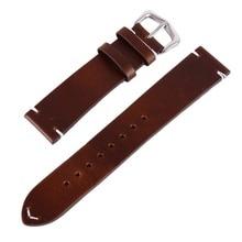 New Watch Bracelet Belt Black Watchbands Genuine Leather Strap Band 18mm 20mm 22mm Accessories Wristband