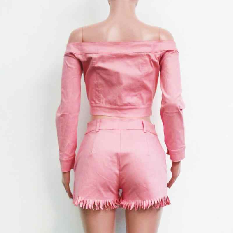 ef4080dd51 ... Women's Autumn Winter Suits Off-The-Shoulder V-neck Buckel Long-Sleeved  ...
