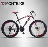 LAUXJACK Mountain Bike Steel Frame 24 Speed Shimano Mechanical Disc Brakes 26 Wheels
