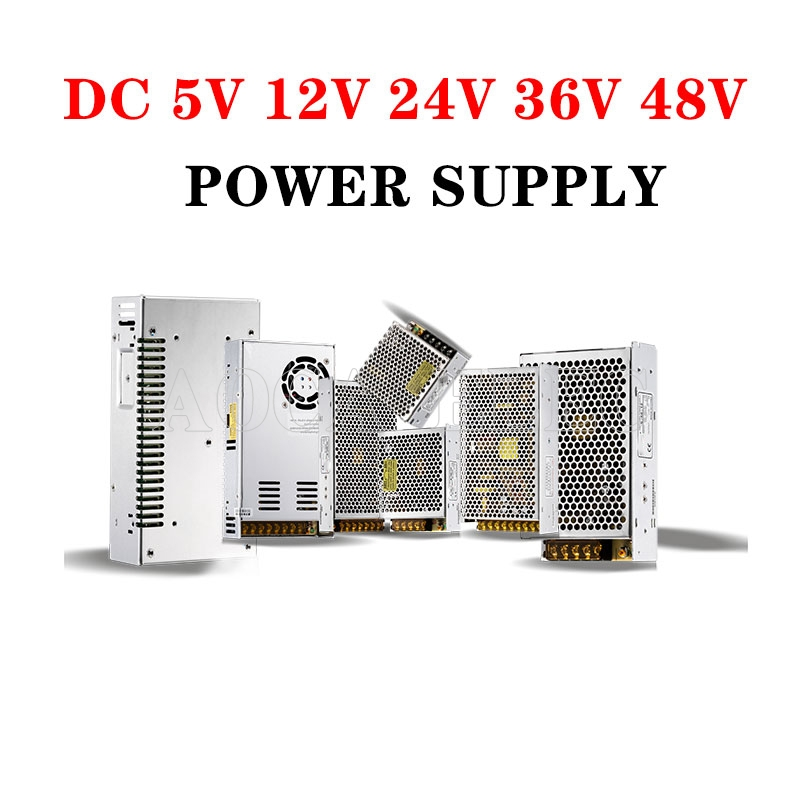 Lighting Transformers DC 5V 12V 24V 36V Power Supply Adapter <font><b>5</b></font> 12 24 36 <font><b>V</b></font> 1A 2A 3A <font><b>5A</b></font> 6A 8A 10A 15A 20A LED Driver LED Strip Lab image