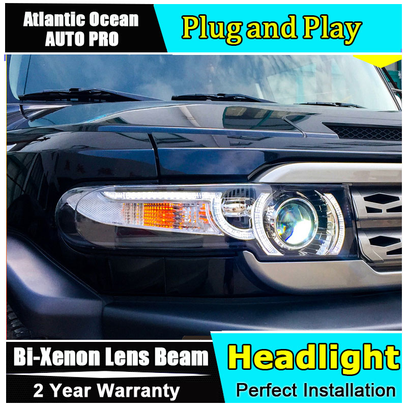 2007-2013 Car Styling for Toyota FJ Cruiser Headlights New FJ150 LED HEADLAMP Cruiser drl Lens Double Beam HID KIT Xenon led drl free shipping vland car lamp for toyota fj cruiser led headlight taillight front grill plug and play design fit model 2007 2015