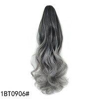 Chất lượng tốt đầy màu sắc tóc đồ trang sức 140 gam 50 cm phụ kiện tóc tổng hợp xoăn hairwear mở rộng cho big sóng ponytails