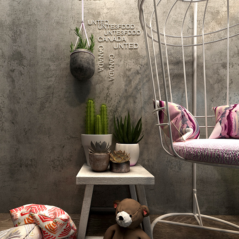 Retro Waterproof Self-Adhesive Wallpaper 3D Cement PVC Wall Sticker Restaurant Cafe Clothing Store Background Wall Vinyl Decor