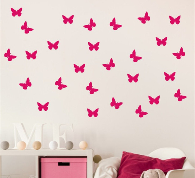 Set Of Patterned Litlle Butterflies Wall Decal Butterfly Nursery - Wall decals butterfliespatterned butterfly wall decal vinyl butterfly wall decor