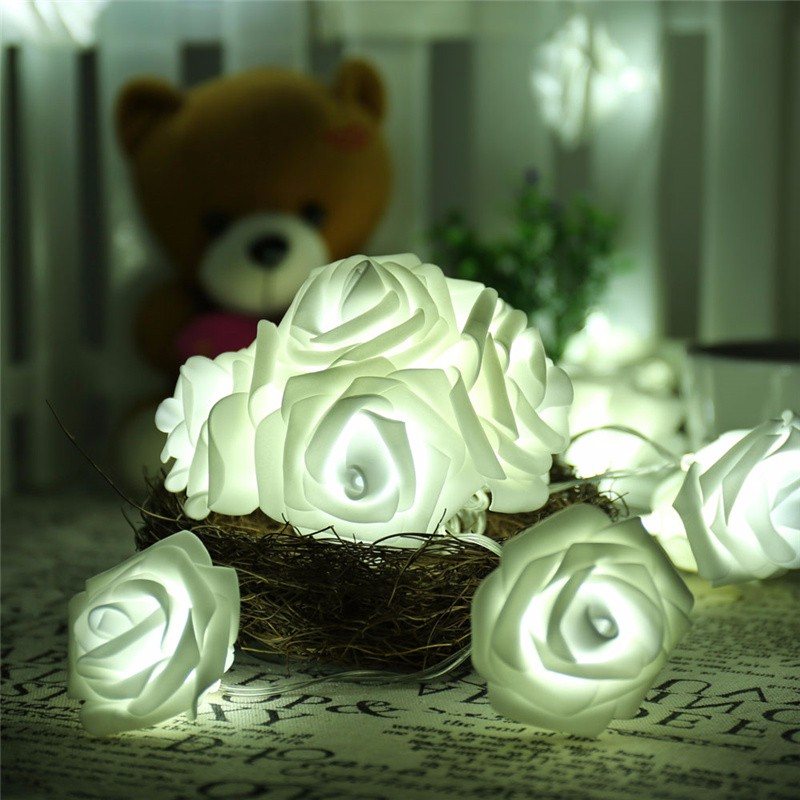 20 LED Novelty Rose Flower Fairy Strin (10)