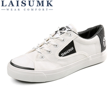 LAISUMK Spring Summer Canvas Shoes Men Sneakers Low top Black Shoes Men's Casual Shoes Male Brand Fashion Sneakers Male Flats spring men low top casual shoes lace up loafers breathable sneakers youth popular shoes male flats black red 01b