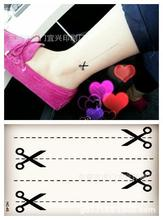 Body Art Waterproof Temporary Tattoos For Men And Women Sexy Fashion 3d Scissors Design Small Tattoo Sticker HC1045