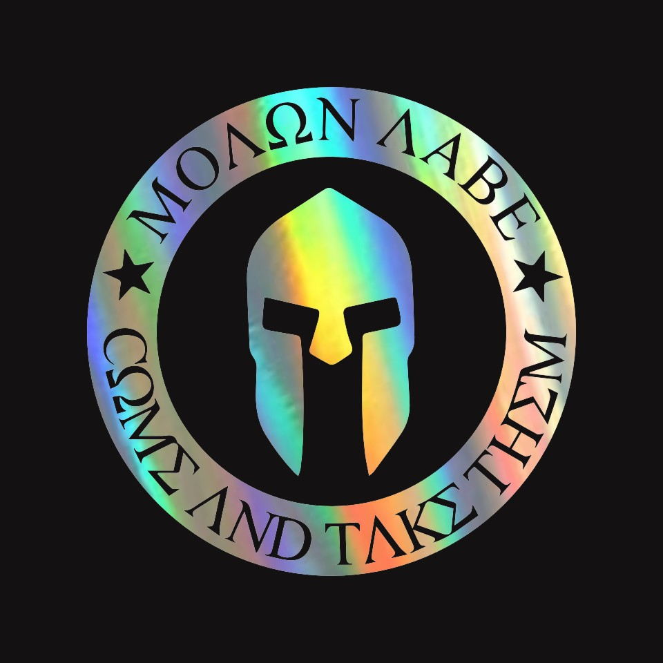 10CMX10CM Molon Labe Spartan Helmet Car Bumper Stickers and Decals Car Styling Decoration Door Body Window Vinyl Stickers (8)