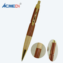 ACMECN Hot Sale Original Design Propelling Ballpoint Pen Manual Gifts Natural Eco-friendly Stiching Maple and Rosewood Ball