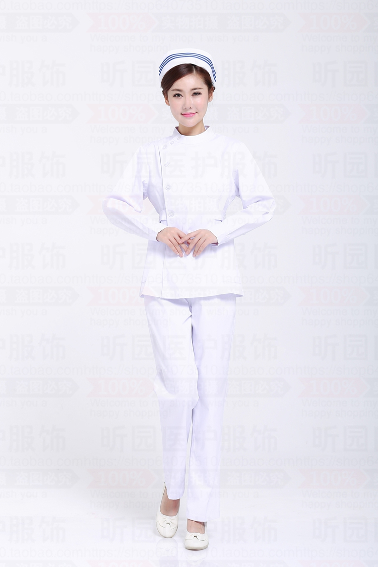 Nurse clothing split suit winter long-sleeved men and women protective clothing summer short-sleeved dentists uniforms