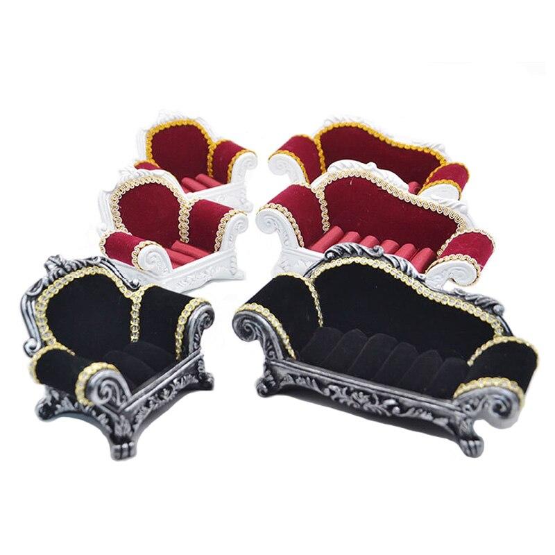 1 pcs Resin Velvet Flannel Jewelry Display Storage Box