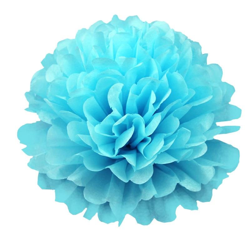 Sky blue tissue paper pom pom