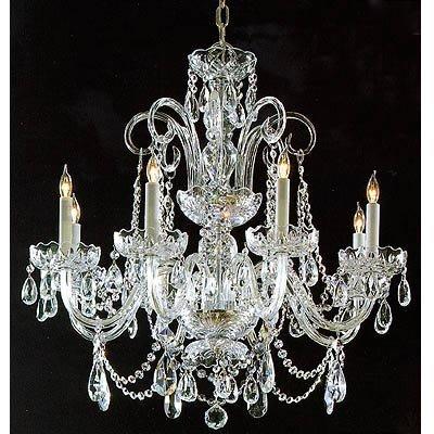 argento lampadario di cristallo / con braccia di vetro in argento ...