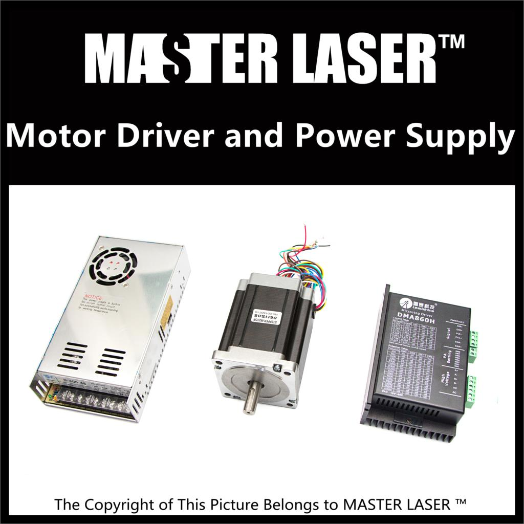 Leadshine Stepping Motor 86HS85 and Motor Driver MA860H for Laser Cutting Machine Stepper Motor Power Supply leadshine 2 phase stepping motor drive ma860h for laser engraving cutting machine stepper motor driver