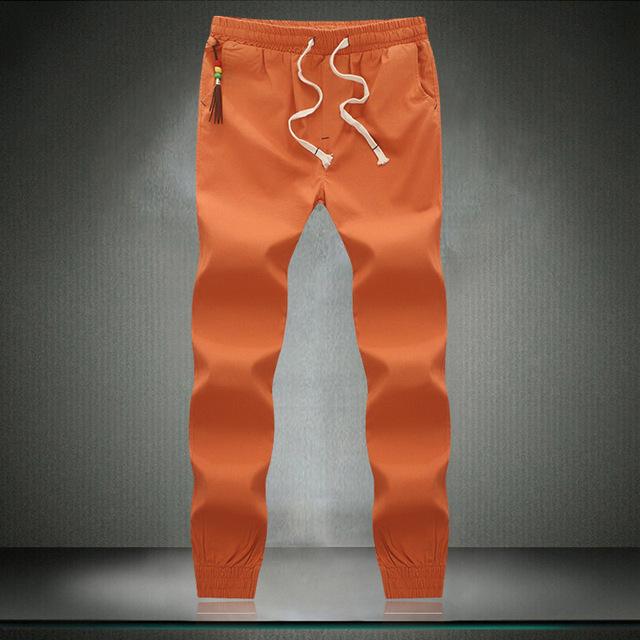 2016 nueva moda cómoda delgada estilo Japonés decorativo bolsillo pantalones flacos ocasionales XL marea modelos de explosión de color