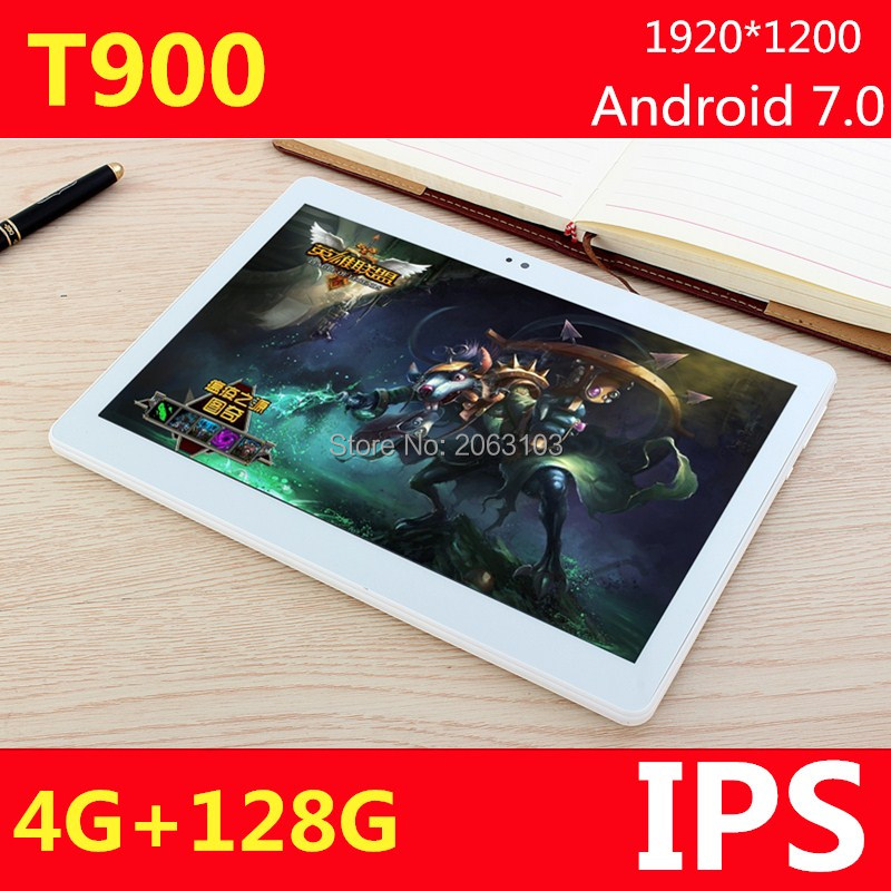 10.1 inch 3G 4G LTE <font><b>tablet</b></font> PC Android 7.0 Phone call octa core RAM 4GB ROM 128GB 1920*1200 IPS Bluetooth <font><b>tablets</b></font> Pc