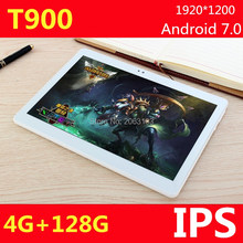 10.1 pulgadas 3G 4G LTE tablet PC Android 7.0 Phone call octa core RAM 4 GB ROM 128 GB 1920*1200 IPS Bluetooth tabletas Pc