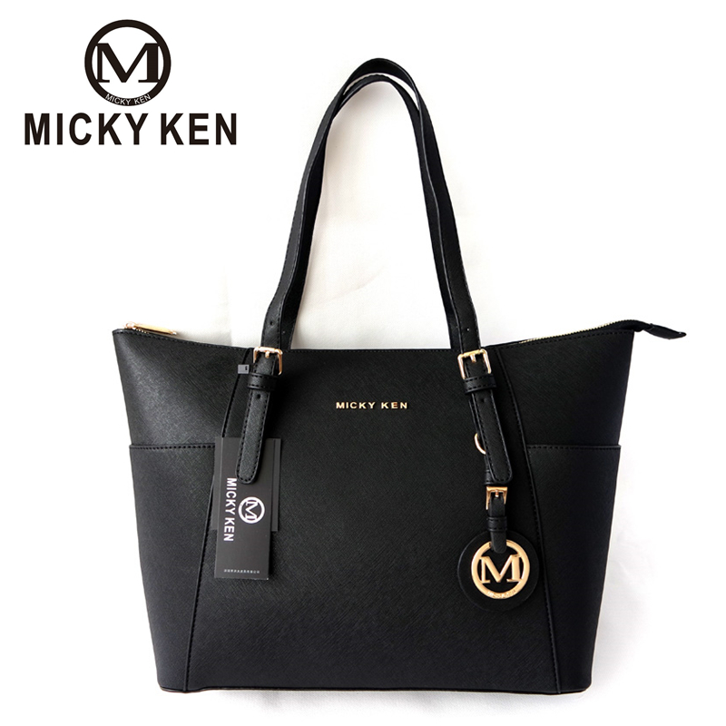 MICKY KEN Brand Fashion women handbag pu leather high quality designer lady letter totes handle bags