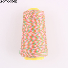 Multicolor sewing thread 3000Y/Spool 40S/2 Polyester  threads industrial thread	from supplies