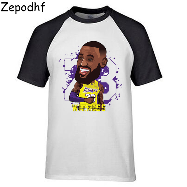 half off 1bf34 a1974 Novelty Lebron James Lakers T Shirt 23 James Man Round ...