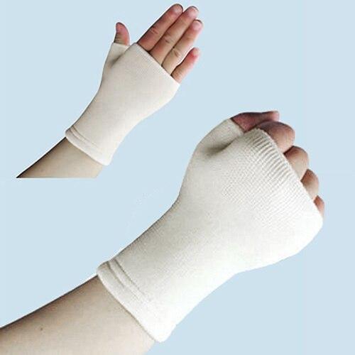 1Pair Unisex Elastic Palm Gloves Sport Hand Wrist Arthritis Brace Sleeve Support