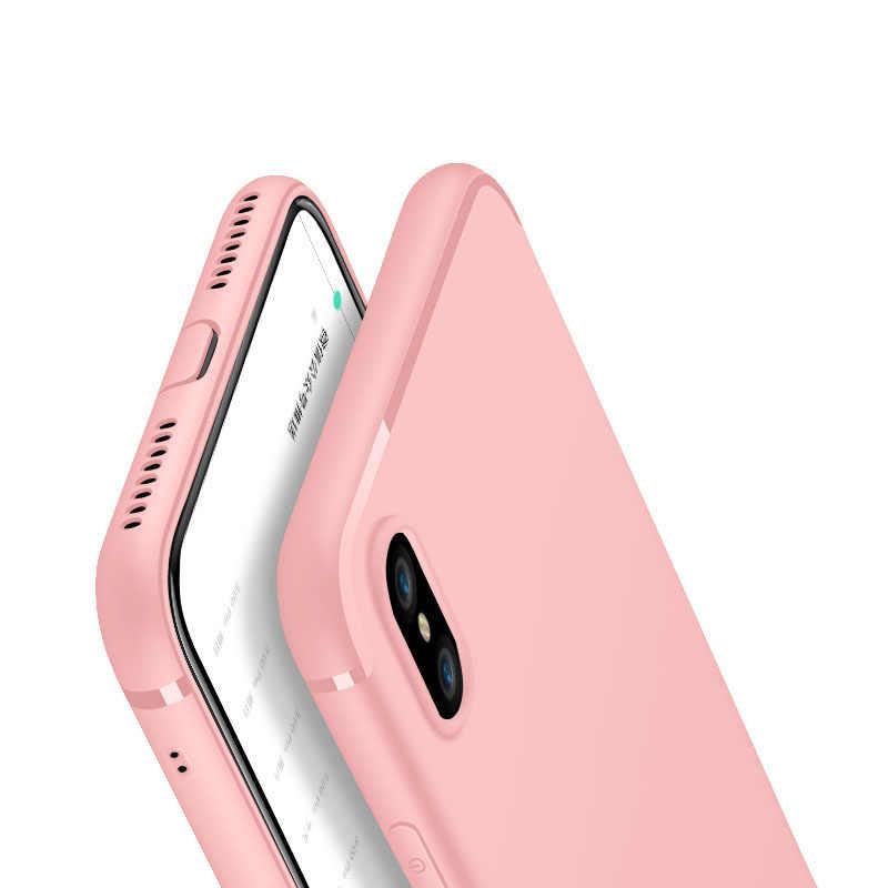 חדש יוקרה Slim הסיליקון קאפה עבור iPhone XS Max XR 5 5S SE כיסוי שחור רך מט TPU מקרה טלפון עבור iPhone 7 8 6 6S בתוספת X XS S