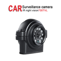 Free Shipping 700TVL Reverse Truck Camera,Outdoor Waterproof IR Night Vision CCD for Bus Car DVR Boat Vehicle Surveillance