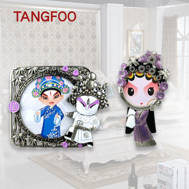 Peking Opera Photo Frame Q character Photo Frames New year Christmas birthday wedding Gift Desktop Home Decor Father's Day Gifts