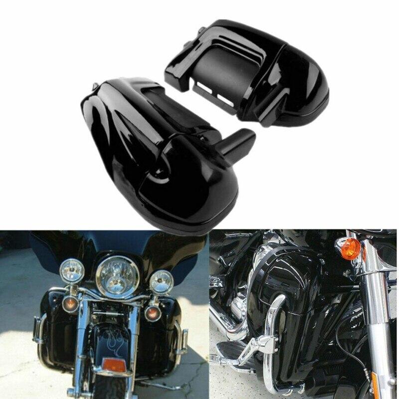 Moto Noir Basse Évacué Jambe Carénages Cap Boîte à Gants Pour Harley-Davidson Modèles Touring Road King Electra Glide Ultra
